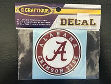 University of Alabama Crimson and White Small Circle Logo Decal