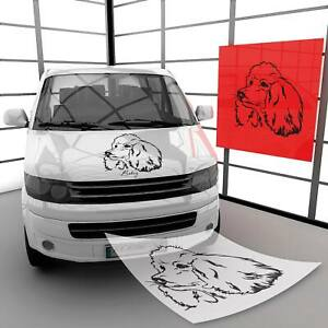 Pudel Wandtattoo Aufkleber Wandaufkleber Autoaufkleber mit Wunschname   A00639