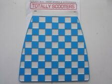 LAMBRETTA or VESPA CUPPINI BLUE AND WHITE EMBOSSED CHECKED LONG MUDFLAP