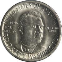 1946-S BTW Booker T Washington Half Dollar PCGS MS66 Blast White Gem Nice Strike