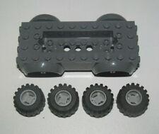 Lego ® Lot x4 Roue Jante Pneu Tire Car Wheel Chassi Voiture Rouge 12622 6014