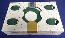Galaxy Holiday Dinnerware Set of 4 cups & Saucers 14k Gold Accents Lot#5-0200
