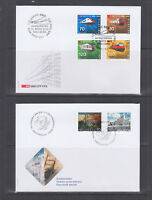 Switzerland Mi 1778/1809, 2002 issues, 8 complete sets on 8 official FDCs, VF