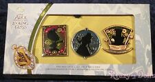Disney Alice Through The Looking Glass Limited Edition Boxed Pin Set of 3 New!