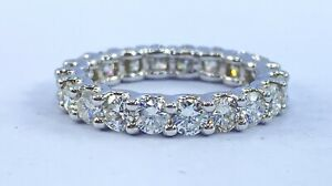 2.67 ct NATURAL 20 x DIAMOND ETERNITY band ring 14k white GOLD size 6 ( VIDEO)