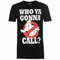 Character Mens Ghostbusters T Shirt Crew Neck Tee Top Short Sleeve Lightweight