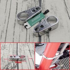 """1"""" Chrome Brake Clutch Alloy Cable Part Clamp Clip Bar For Harley Davidson"""
