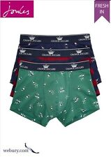 Joules 'Crown Joules' Rugby Theme Mens Boxer Short Gift Set - Pack of 3