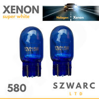 2x Drl W21/5w T20 580 7443 Sidelight Blue Glass Bulbs Dual Filament Xenon 6000k