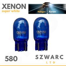 2x Drl W21/5w T20 580 7443 Sidelight Blue Glass Bulbs Dual Filament Xenon 6000k