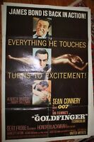 Goldfinger James Bond 007 1 Sheet Original Movie Poster 1964 Sean Connery