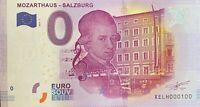 BILLET 0  EURO  MOZARTHAUS SALZBURG ALLEMAGNE  2017  NUMERO 100