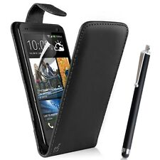 Black Flip Case Pouch PU Leather Cover For HTC Desire 530 Mobile Phone