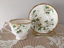 Royal Albert Fine Bone China Teacup & Saucer - White Dogwood
