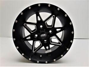 ITP Tornado Wheel 14x7 5+2 Offset 4/110 Matte Black