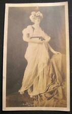 Barefoot Woman In White Dress & Sunflower Crown Photograph 1913 Aurora Studios O