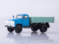 Scale truck model 1:43, GAZ-53 SAZ-3507 blue/grey