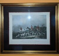 """""""The Old Berkshire Hunt"""" Classic Engraving Matted and Framed to 34x38"""" sized"""