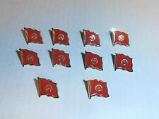 Wholesale Lot of 10 Kyrgyzstan Flag Lapel Pin, Brass Finish, Brand New