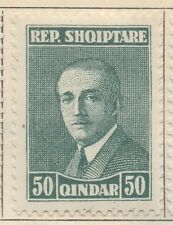 ALBANIA;  1925 early Hoxha issue Mint hinged 50q. value