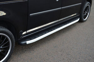 Aluminium Side Steps Bars Running Boards To Fit LWB Fiat Scudo (2006-16)
