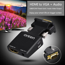 ONTEN HDMI to VGA Converter with Audio Adapter 1080P Video PC to TV Projector