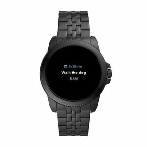 Fossil Gen 5E 44mm Case with Link Band Smart Watch for Men - Black Stainless...