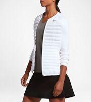 Nike Wmns Aeroloft Combo Golf Jacket 802909-100 White Size XL New