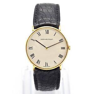 Audemars Piguet 18K Yellow Gold Cal 2003 Hand Wind Men's Watch 31.5 mm