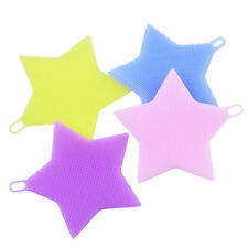 Kitchen Dish Washing Mat Star Silicone Sponge Scrubber Brush Cleaning Pad