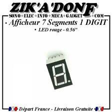 """Afficheur 7 segments 1 digit 0.56"""" rouge (Cathode Commune)"""
