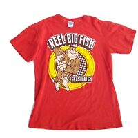 Mens Reel Big Fish Skasquatch Retro Red Tshirt Size M Medium Ska Alternative