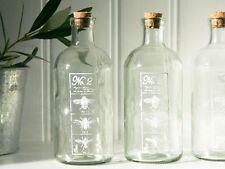 No2 ANTIQUE VINTAGE FRENCH CHIC GLASS JAR BATHROOM BOTTLE WEDDING STORAGE CORK
