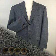 PAL ZILERI PULL Italy Wool/Cashmere 3 Button Grey Herringbone Tweed Men's 46R