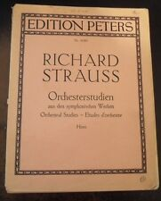 Richard Strauss Orchestral Studies for French Horn Via email or Mini CD by mail