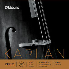 D'Addario Kaplan Cello String Set, 4/4 Scale, Light Tension