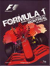Michael Schumacher Signed Formula 1 2007 Canadian GP Program