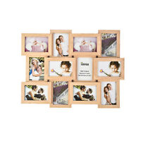 Multi Picture MDF 12 Photo Frame Collage Aperture Wall decor Memories