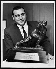 ALAN AMECHE BALTIMORE COLTS HALL OF FAMER WITH HIS HEISMAN TROPHY 8x10