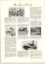 1955 PAPER AD Soap Box Derby Racer Kit Fair Craft Pedal Car