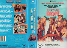 CAPTAIN RON -Kurt Russell Martin Short -VHS -PAL - NEW - Never played!! - RARE!!