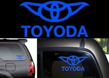 "8"" Blue TOYODA Yoda Vinyl Decal Sticker For Toyota Vehicles New Free Shipping"