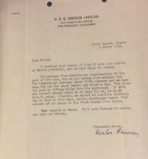 POINT BARROW ALASKA- 1949 CORRESPONDENCE FROM USS OBERON (AKA- 14) TO USA