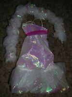 Vintage Crystal Barbie Dress, Matching Boa and Shoes 1983