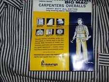 Vintage Carpenters Jc Penny Bib Square Bak Overalls Union Made Org Tags