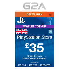 Playstation Network £35 Card - PSN 35 GBP UK Store Key / PS4 PS3 PSP - 35 Pounds