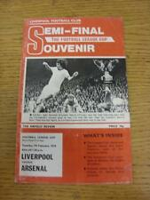 07/02/1978 Football League Cup Semi-Final: Liverpool v Arsenal  (Creased). Item