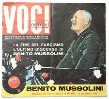 FASCICOLO - VOCI STORICHE N. 11 1960 - L'ULTIMO DISCORSO DI BENITO MUSSOLINI