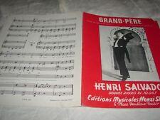 HENRI SALVADOR - PARTITION GRAND-PERE !!!!!!!!!!!!