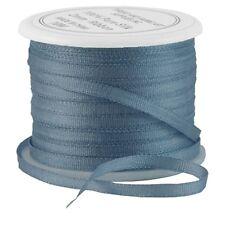 11 YDS (10 M) EMBROIDERY SILK RIBBON 100% SILK 2MM - SLATE BLUE - by THREADART